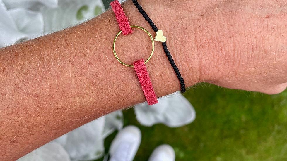 dainty heart + bead bracelet