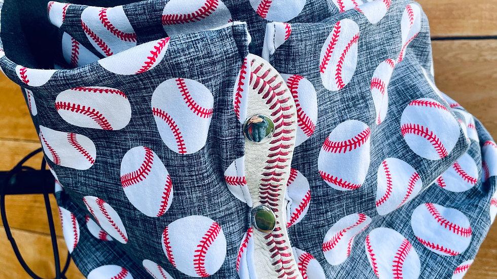 lux knit baseball + fleece scarf