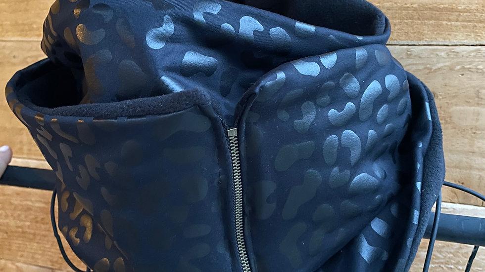 black leopard + fleece scarf