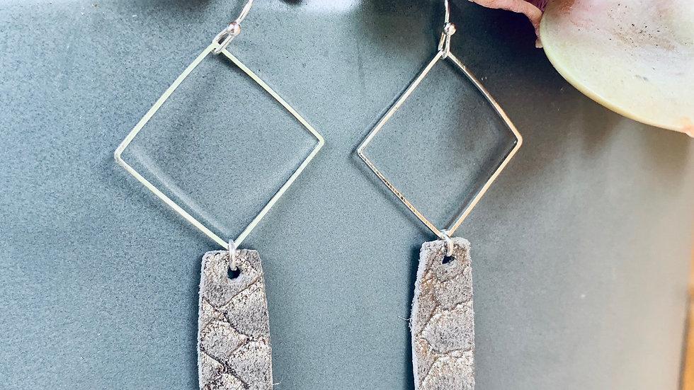 large silver + diamond drops