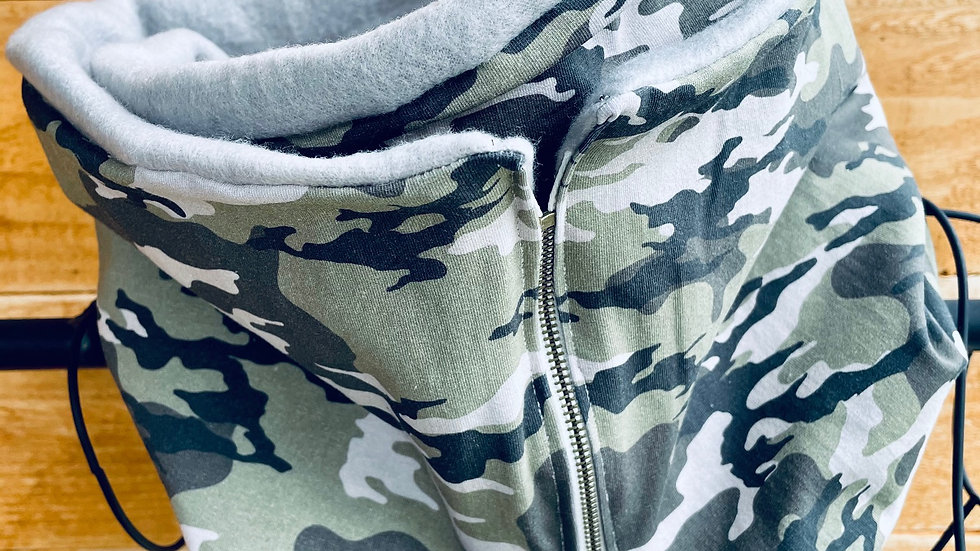 lux knit camo + fleece scarf