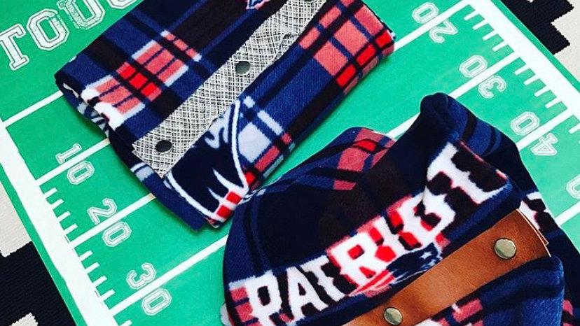 New England Patriots + lux fleece scarf