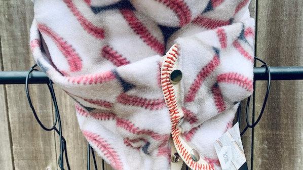 baseball + genuine baseball leather scarf