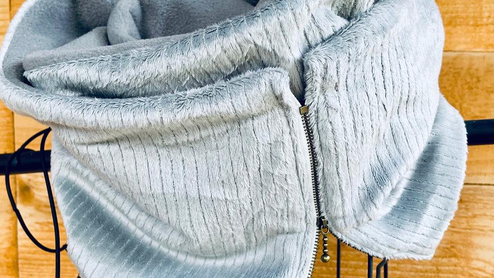 lux velour + fleece scarf