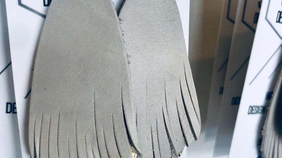 DIY leather + earrings