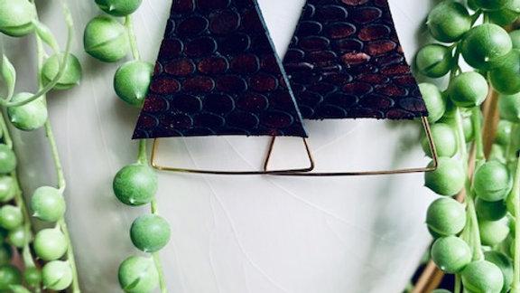 bronze leather + triangles