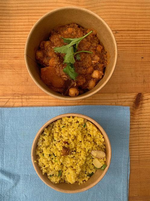 Fragrant Moroccan chick pea & date tagine serves 2