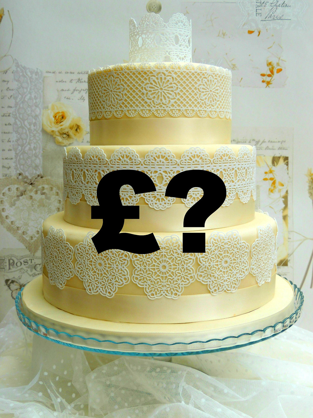 Wedding cake without a price