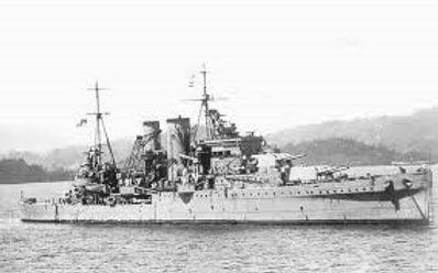 HMS Exeter just prior to the Battle of Java