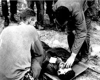 Medics tend injured