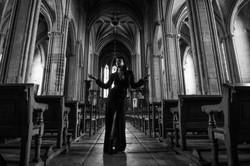 Woman in church phorography