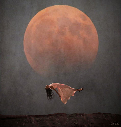 Women Moon photography