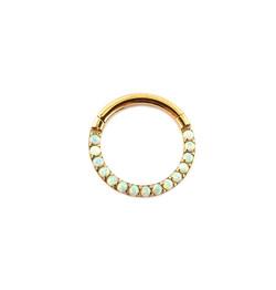Anneau clicker - Opale