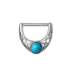 Bijou de téton - Turquoise