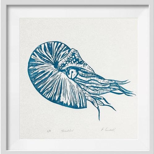 'Nautilus' Original Linocut Print