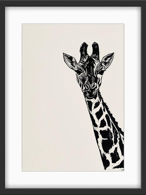 'Gerry Giraffe' Original Linocut Print