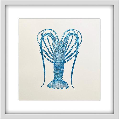 'Lobster' Original Linocut Print