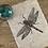 Thumbnail: 'Dragonfly' Original Unframed Linocut Print