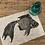 Thumbnail: 'Japanese Goldfish' Original Unframed Linocut Print