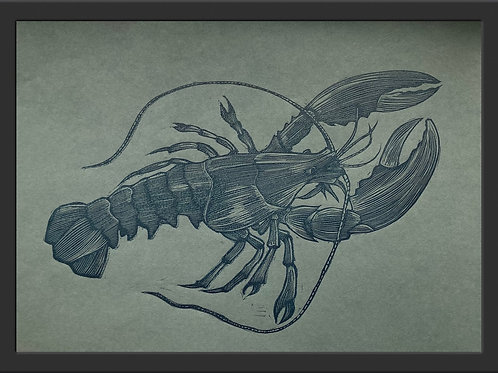 Limited Edition Lobster Linocut