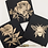 Thumbnail: Set of Three Flowers and Bee Black and Gold Notecards