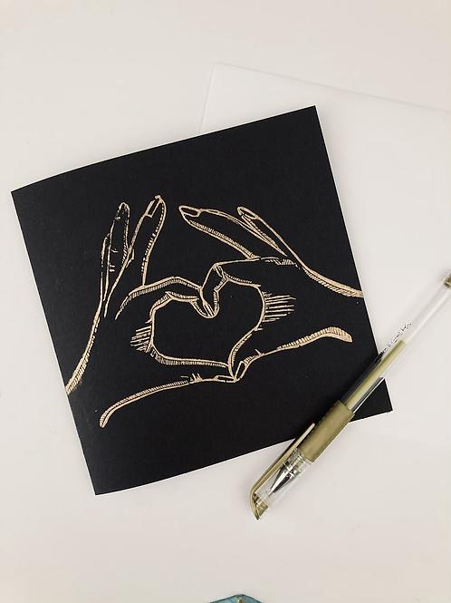'Love' Blank Greeting Card