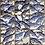 Thumbnail: Set of 6 Linocut Paper Squares -  Blue Fish
