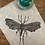 Thumbnail: 'Moth' Original Unframed Linocut Print