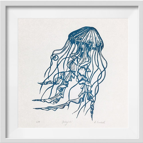 'Jellyfish' Original Linocut Print