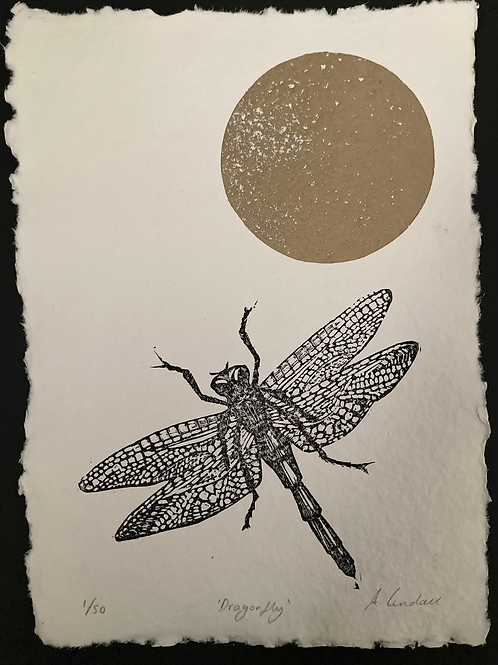 Dragonfly - Limited Edition Linocut (Unframed)