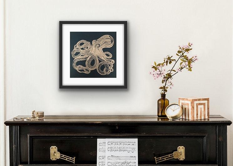 Metallic-Copper-Linocut-Octopus-Print.jp