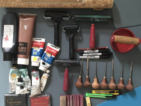 Which Products? An Insight into my Lino Printing Tool Kit
