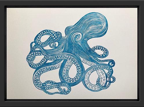 'Octopus' Original Linocut Print (Unframed)
