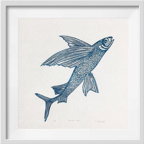 'Flying Fish' Original Linocut Print