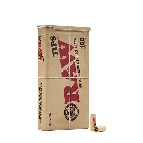 RAW 100 tips Metal Tin