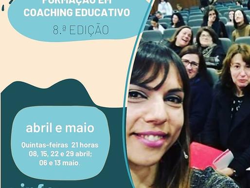 8.a edição da Formação em Coaching Educativo - abril e maio