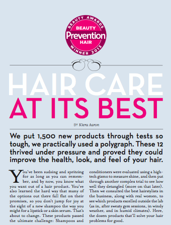 Prevention, Oct 2013