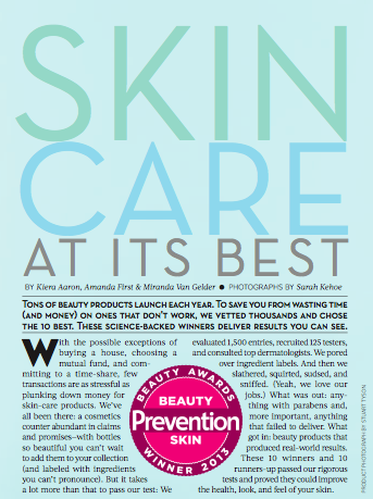 Prevention, August 2013