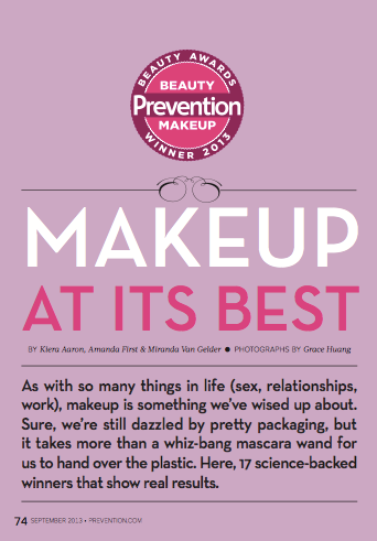 Prevention, Sept 2013