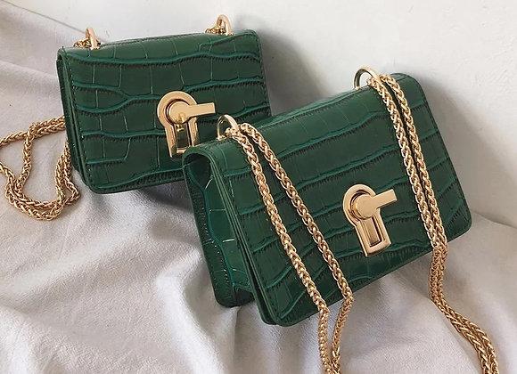 Lock Drip Chain Mini Shoulder Bag