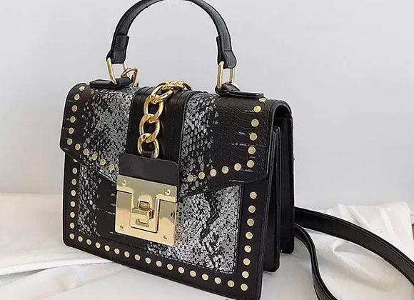 Drip lock snake skin mini handbag