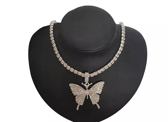 Butterfly Diamond Drip Necklace