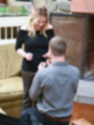 Proposal photo at Snowflake Resort