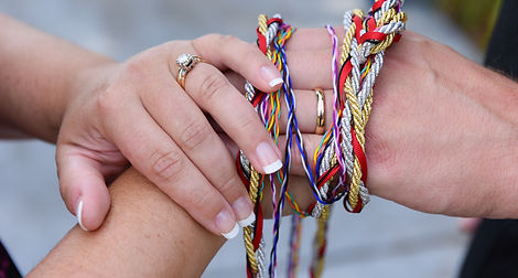 Hands during Handfasting Ceremony