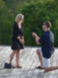 Man proposing at the von trapp lodge