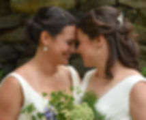 Two brides at their wedding