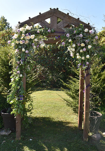 Wedding Flowers for arch