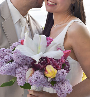 June Wedding bouquet with lilacs