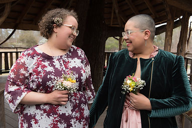 Same-sex couple marrying