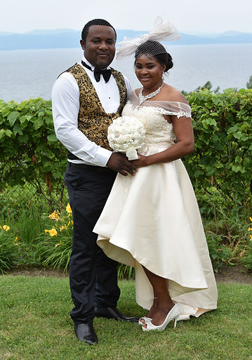 Wedding couple from the Congo
